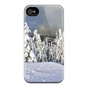 ZsY4620-qdu Snap On Case Cover Skin For Iphone 4/4s(forest Winter)