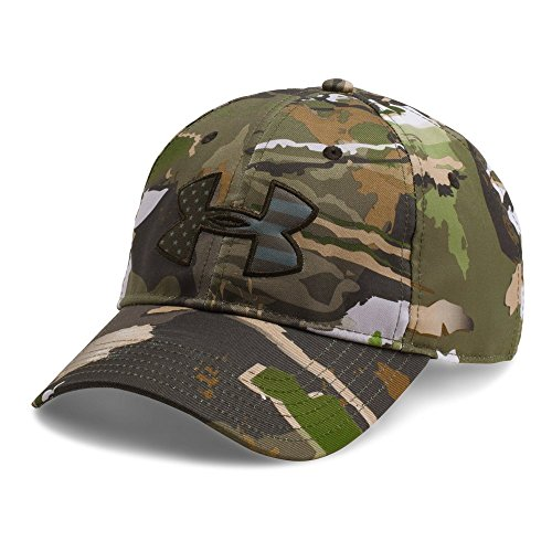 Under Armour Men's Camo Big Flag Logo Cap, Ridge Reaper Camo Fo/Artillery Green, One Size