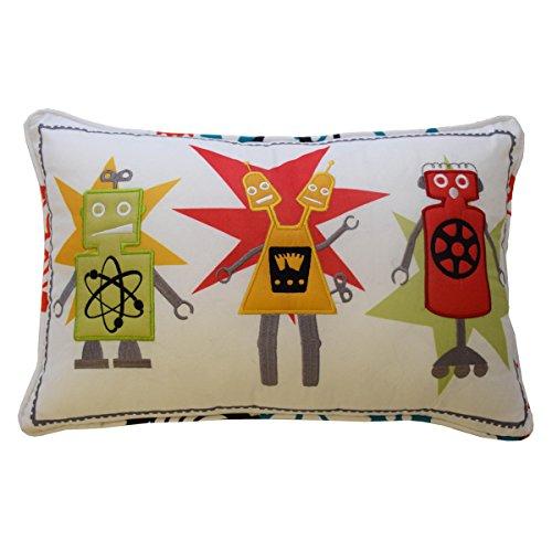 WAVERLY Kids Robotic Red Decorative Pillow, 12 x - Waverly Fabric Decorator