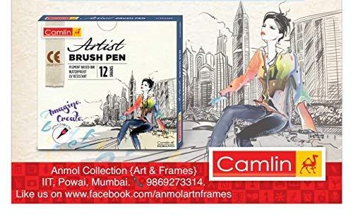 Camlin Artist Brush Pen Set - Pack of 12 (White) by Camlin