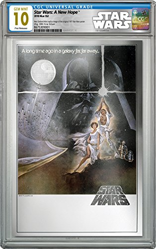2018 NU Star Wars: A New Hope - 35g Pure Silver Premium Foil Poster - CGC 10 GEM MINT - FIRST RELEASES - $2 Legal Tender Silver Foil - With all Original Packaging $2 Mint State CGC ()