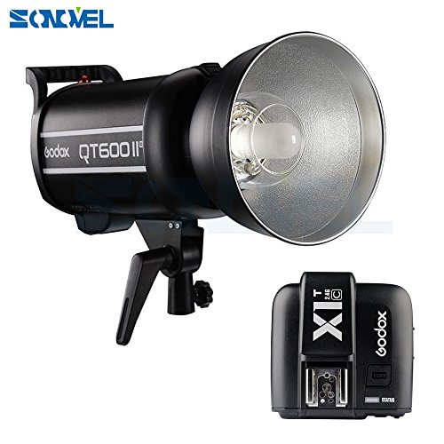 SONOVEL Godox QT-600IIM 600WS 110V 2.4G HSS 1/8000s High Speed Studio Strobe Flash Light GN76 HSS Built-in 2.4G Wirless X System Radio Reciver + X1T-C Transmitter For Canon EOS DSLR Camera by sonovel