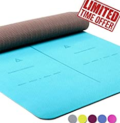 Is your yoga mat eco-friendly and durable? Are you still using the PVC, NBR or Eco-PVC (still PVC) traditional yoga mat? Your yoga mat has alignment lines can help you to improve practice? Long enough, wide enough and thick enough? Preventing...
