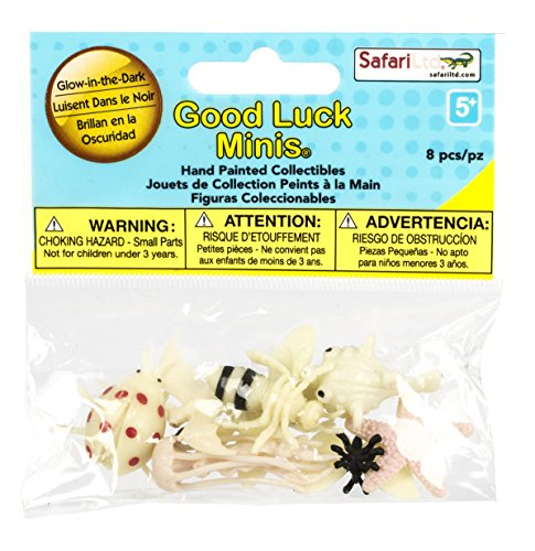 Good Luck Minis Glow-in-the-Dark Pufferfish, Jellyfish, Starfish