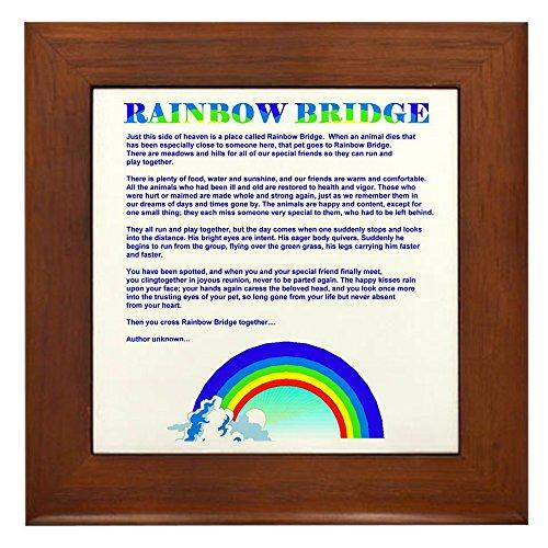 (CafePress Rainbow Bridge Framed Tile, Decorative Tile Wall Hanging)