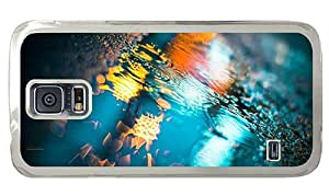 Hipster Samsung Galaxy S5 Case carry Puddle Color Reflection PC Transparent for Samsung S5