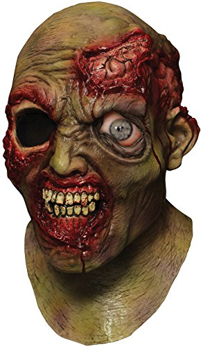 Digitally Animated Wandering Eye Zombie Head Mask ()