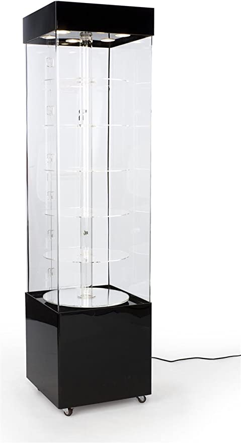 Models /& More NEW Rotating Display Case w// Mirrored Platform Spins 360 Degrees