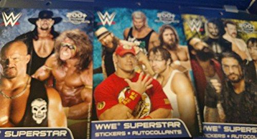 WWE Superstar Sticker Book 200+ Stickers 3 Set Bundle by WWE