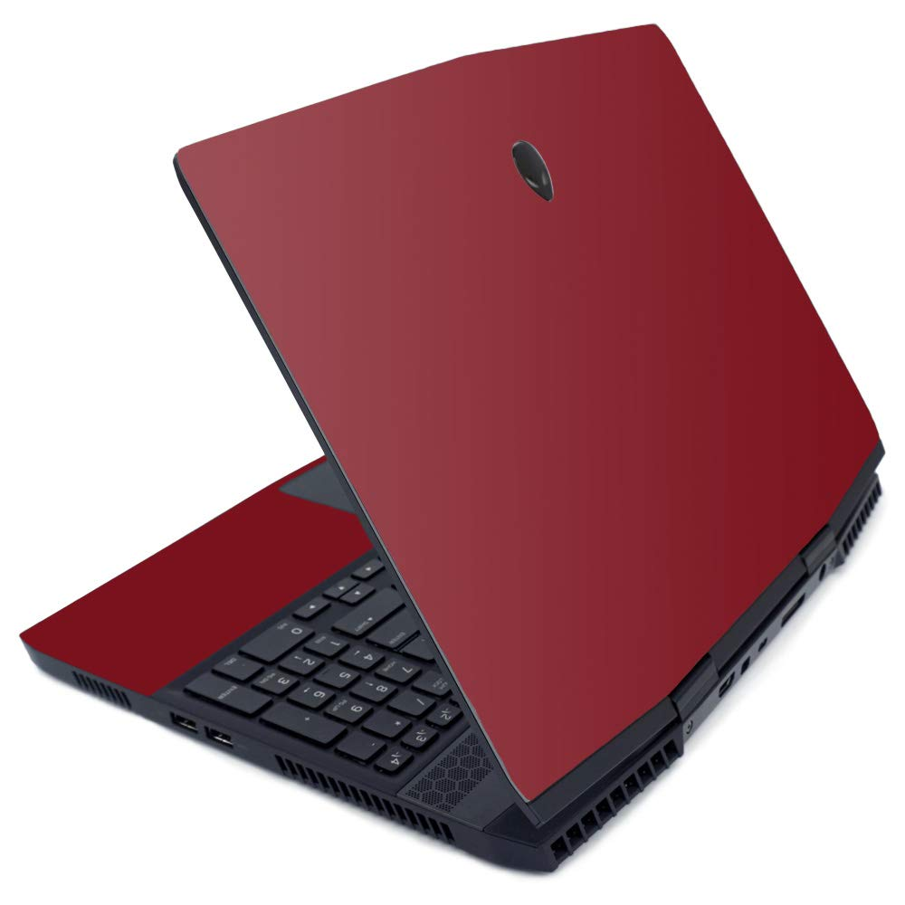 MightySkins Skin for Alienware M15 (2019) - Solid Burgundy | Protective, Durable, and Unique Vinyl Decal wrap Cover | Easy to Apply, Remove, and Change Styles | Made in The USA