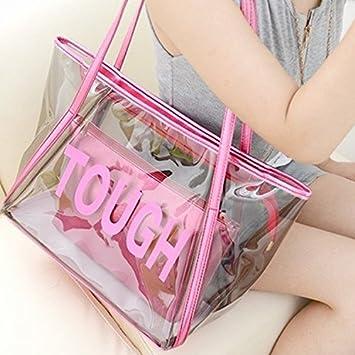 cf2daaf42 Venta caliente de la mujer transparente bolso de mano bolsa de playa, rosa:  Amazon.es: Deportes y aire libre