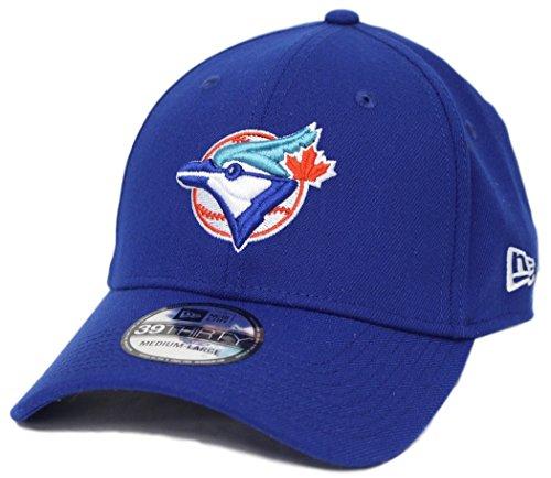 New Era Toronto Blue Jays MLB 39THIRTY Cooperstown Classic Flex Fit Hat - Blue (Blue Jays Toronto Caps)