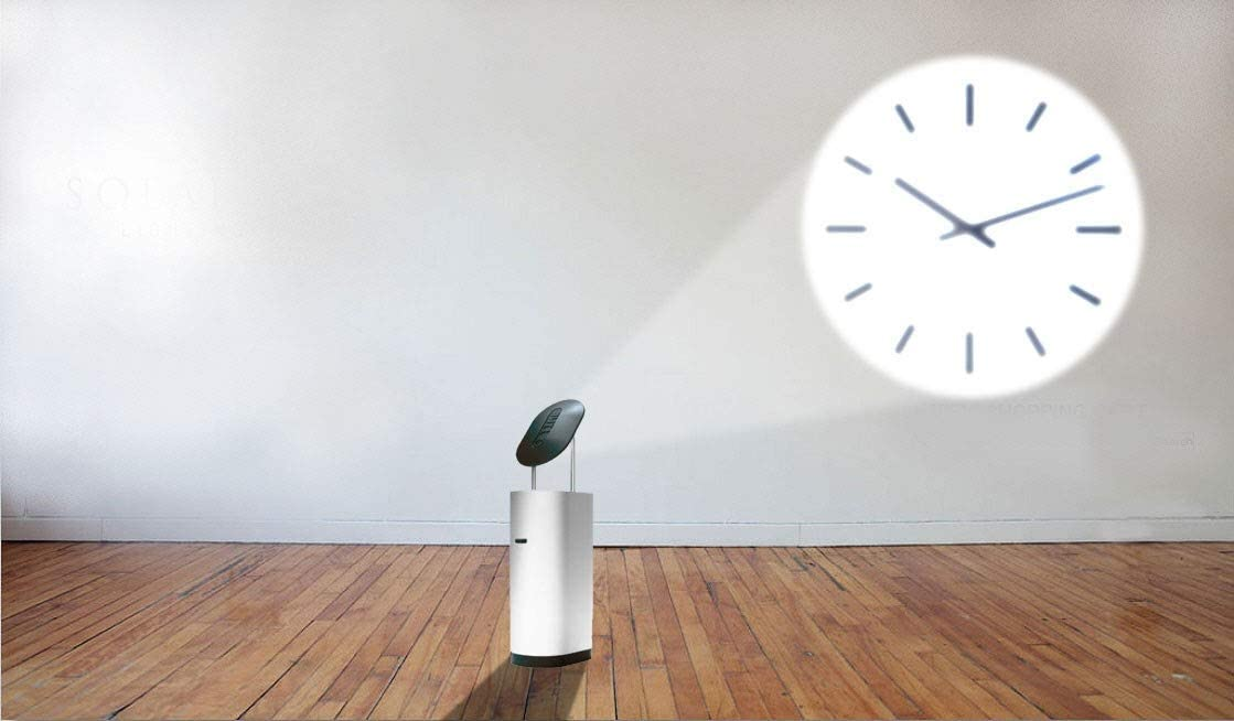 Q-Time Projection Clock Silver Grey