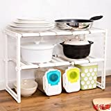 Sink Rack Storage Shelf Under The Retractable Kitchen Pots And Storage Rack