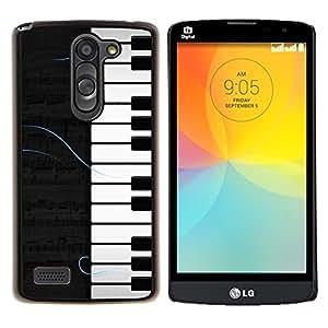 "Be-Star Único Patrón Plástico Duro Fundas Cover Cubre Hard Case Cover Para LG L Prime / L Prime Dual Chip D337 ( Patrón Piano"" )"