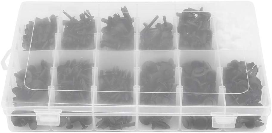 Bo/îte de kit de rivet dattache 350pcs agrafes de retenue de garniture d/équilibre de goupille pour le b/âti de voiture