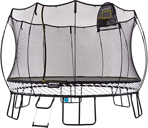 Springfree Trampoline - 13ft Jumbo Round Trampoline with Basketball Hoop, Ladder, Tgoma