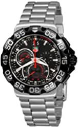TAG Heuer Men's CAH1010.BA0860 Formula 1 Grande Date Chronograph Black Dial Watch