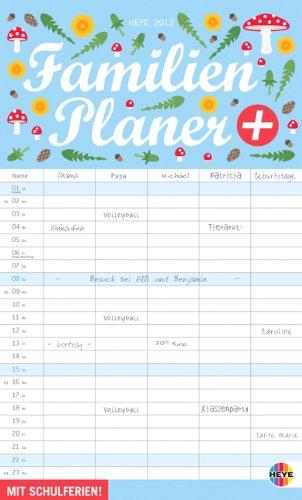 Familienplaner plus Clips 2012: Mit Schulferien. 5 Spalten. Inklusive Klammern zum Anheften alltäglich wichtiger Dinge