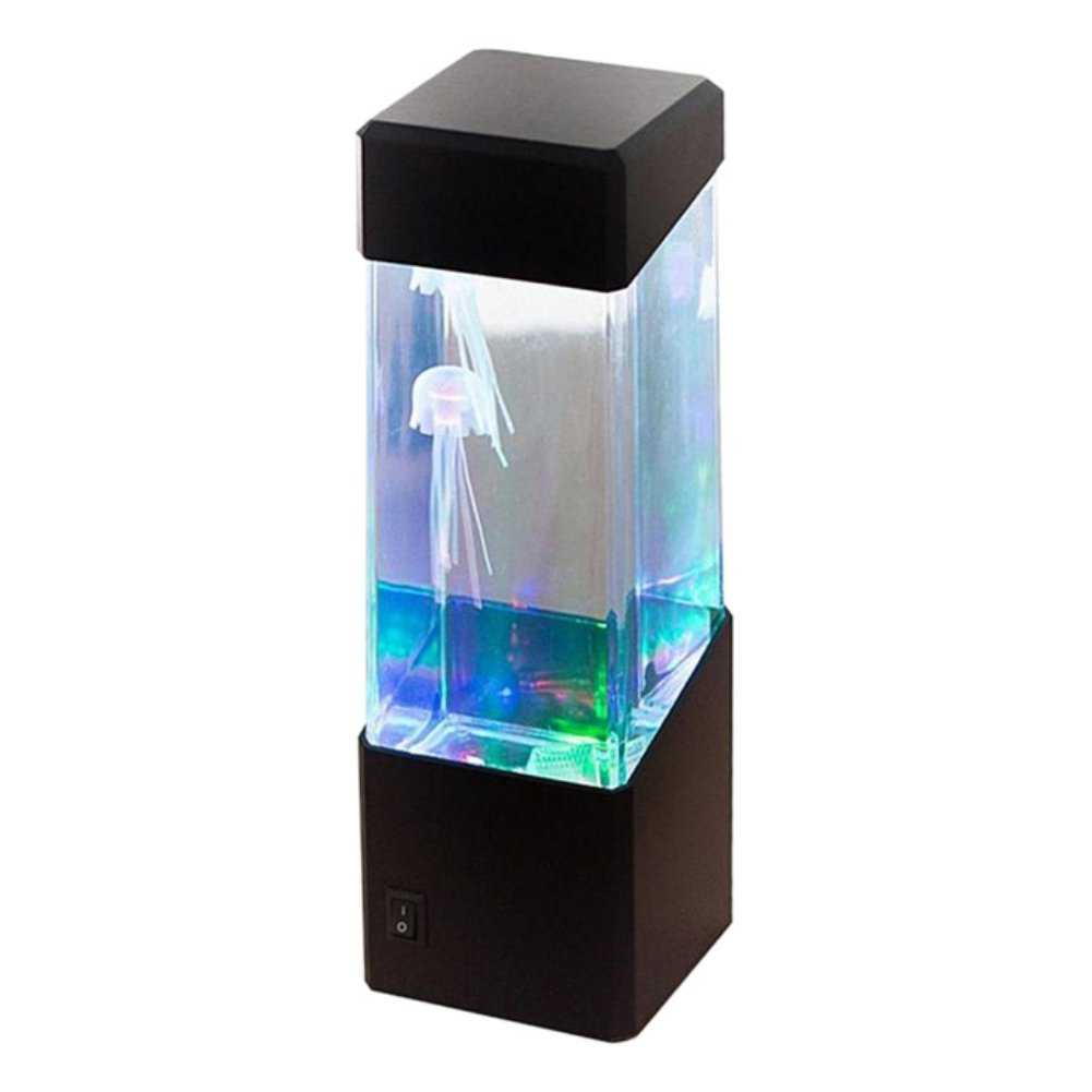 Bornbayb LED Jellyfish Lamp Table Lamp Multi Color Electric Fish Tank Gifts for Women, Men, Kids, Mood Light for Relaxation