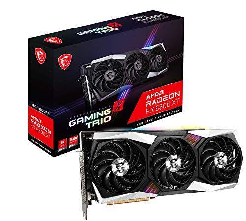 MSI Radeon RX 6800 XT GAMING X TRIO 16G grafische kaart '16 GB GDDR6, RGB Mystic Light, AMD, 3x DisplayPort, HDMI, Tri…