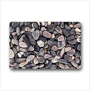 Customize Colorful Pebbles Indoor/Outdoor decorative doormat by Stone doormats