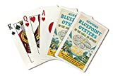 Bluepoint Oysters Vintage Poster (artist: Kotula) USA c. 1940 (Playing Card Deck - 52 Card Poker Size with Jokers)