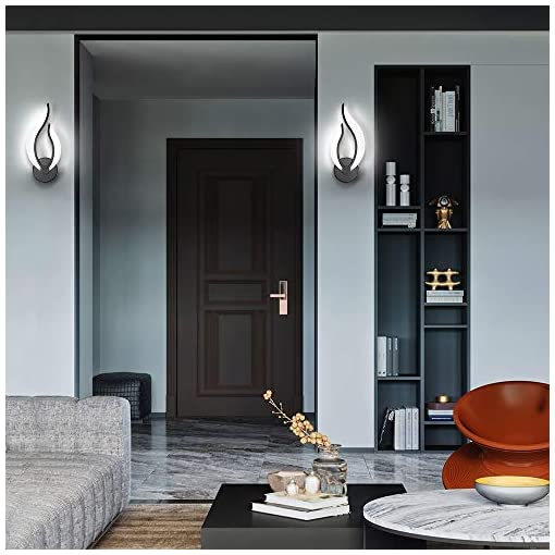 Interior Lighting Pasoar Plug in Wall Sconces Set of Two, Modern Bedroom Bedside Lamps Industrial Sconces with Switch On Off Cord 5500k 10… modern wall sconces