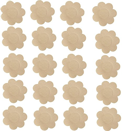 Nipple Covers,Smozer 20 Pairs Women's Disposable Satin Petals 20 Pairs/set(40 petals). (Nipple Covers Tops)