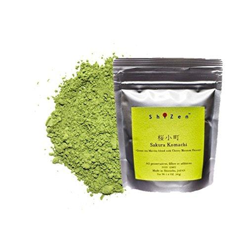 Cherry Blossom Matcha Green Tea Powder – High Grade Matcha blended with Cherry Blossom Leaf – ShiZen Tea