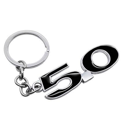 KJHKJH Car Styling Keychain Metal 5.0 Logo Llavero Coche ...