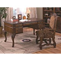 Brand New Neo Renaissance Home Office Writing Study Desk (60x30x31H) with Arm Chair (24.6x25.3x44.6H)