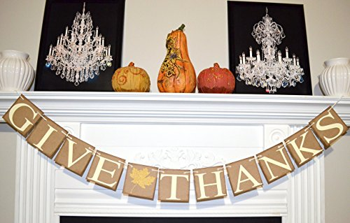 (Give Thanks Banner, Thanksgiving Banner, Thankful Garland, Thanksgiving Decor, Thanksgiving Fall Decor, Fall Banners)