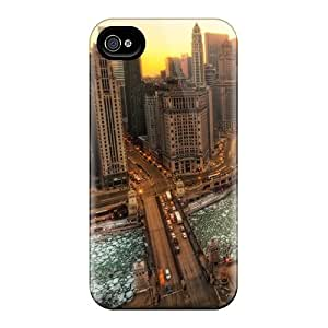 Hot Design Premium SRvIcDZ9495meSRV Tpu Case Cover Iphone 4/4s Protection Case(winter In Chicago)