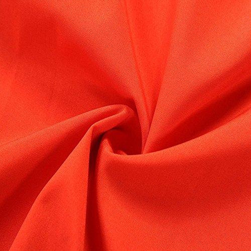 Up Fte Manches Yusealia Femme Pin Unie Couleur 50 Orange sans Femme Annes Soire Chic D't Rockabilly Robe Soiree Crmonie Vintage Mini Robes Robes Femme Cocktail Bodycon Robe Robe 8xSqrZ8