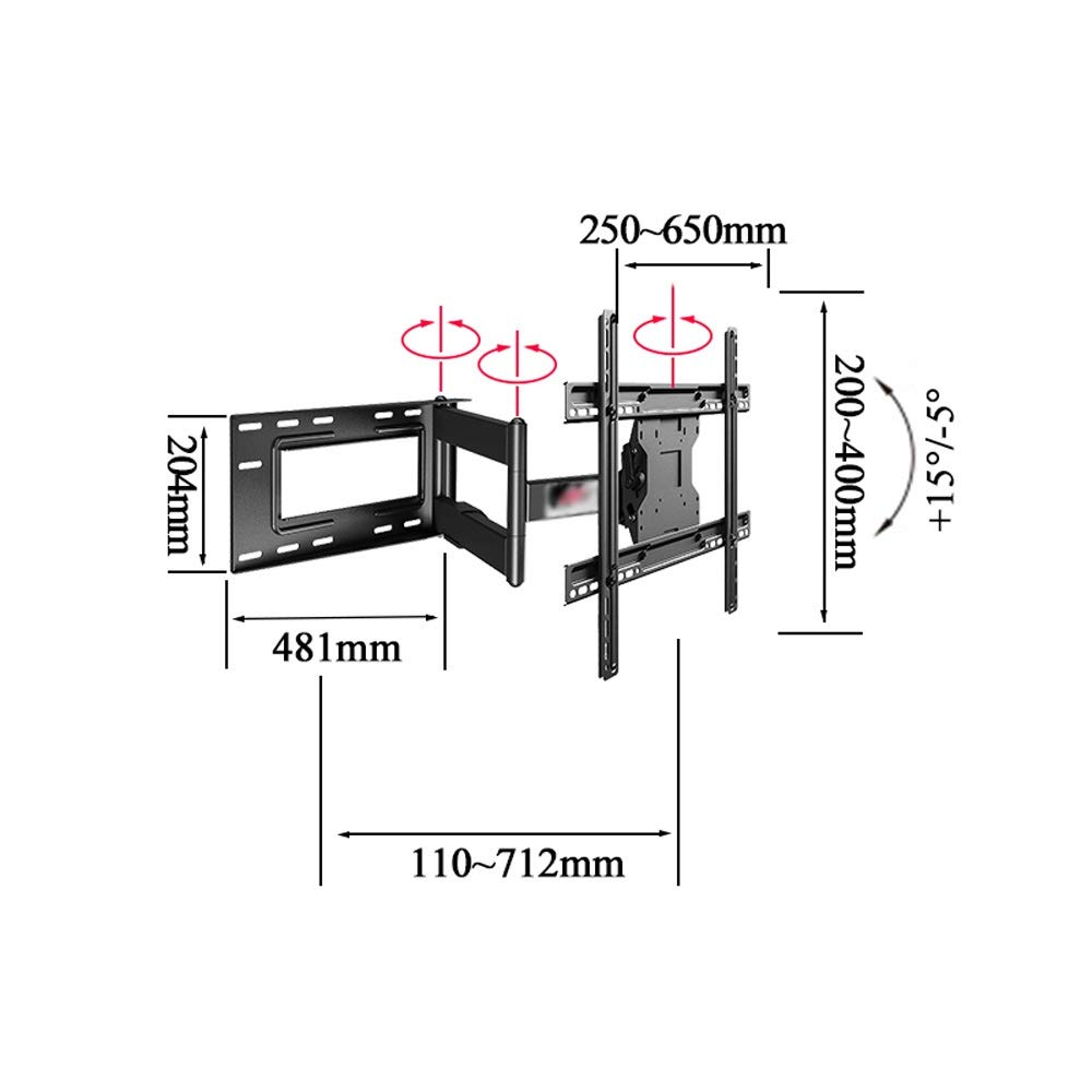 JL Household Cold Rolled Steel Display Bracket TV Telescopic Frame Rotating Bracket Advertising Rack Wall Mount A+ (Size : Trois Bras) by Monitor Stand