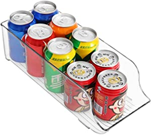 MOOCHI Pop Soda Can Dispenser Beverage Drink Holder Plastic Kitchen Pantry Cabinet - 13.6 x 5.5 x 4.1, Clear