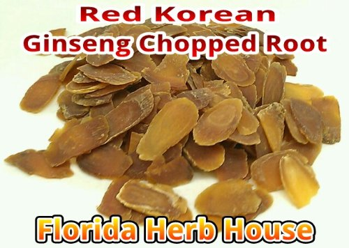 Red Korean Ginseng - Wildharvested Chopped Red Ginseng (16 oz (1 Lb)) by Florida Herb House