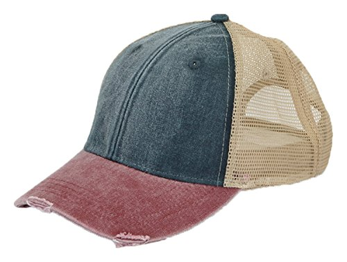 Adams Durable Structured Ollie Cap, FOREST/TAN, One (Distressed Mesh Hat)