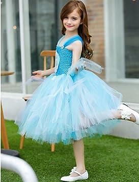 YY Alsa Princess Vestido De Niña rollo de tul de flores de a-line tea