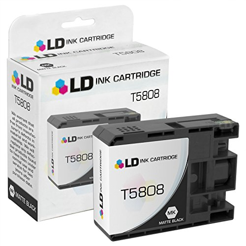 LD Remanufactured Ink Cartridge Replacement for Epson T580800 (Matte Black)