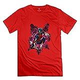 Men's Nightcrawler X Men Short Sleeve T Shirt Size XXL Red