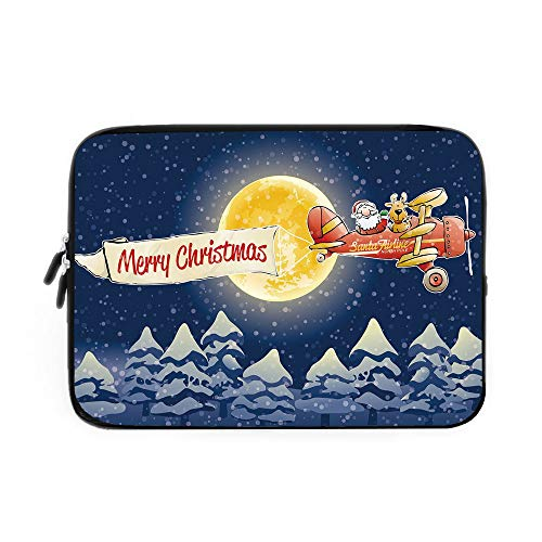 Best Nava Christmas Tree Stands - Christmas Laptop Sleeve Bag,Neoprene Sleeve Case/Santa