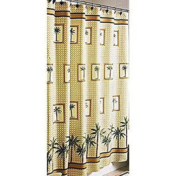Amazoncom Palm Tree Shower Curtain Home Kitchen - Better homes and gardens shower curtain