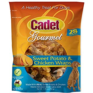 Cadet Premium Gourmet Wraps Chicken & Sweet Potato Dog Treats, 28 oz.