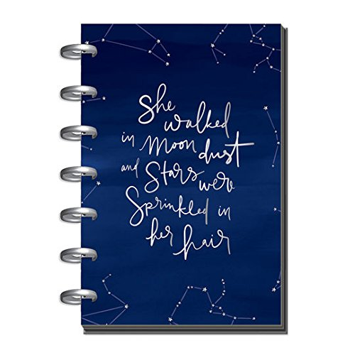 Tone Weekly (Create365 The Happy Planner Mini Boho Deep Tones, She Walked in Moon Dust and Stars Were Sprinkled in Her Hair, Blue Constellations, 12 Month January-December 2018, Dated)
