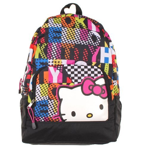 Backpack - Hello Kitty - Colorblock Large School Bag -