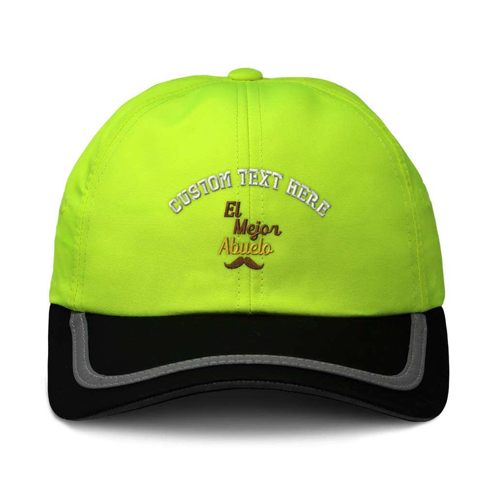 Custom Reflective Running Hat El Mejor Abuelo Mustache A Embroidery One Size