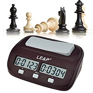 inkint Professional Digital Chess Clock Count Down Timer with Alarm Electronic Board Game Bonus Competition Master Tournament