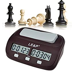 inkint Digital Chess Clock, Count Up Down Chess Timer-Alarm Function Electronic Board Game Timer Clock